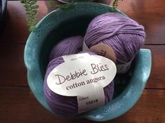 (Pointe Shoes Punk Rock And Purl Pix) Tags: purple cotton angora aran discontinued debbiebliss yarnporn peruvianyarn yp2007