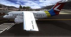 Venezuela Airwasys Avro RJ85 (Jos_Blanco) Tags: venezuela merida hd qq airways bae aeropuerto avro fsx rj85 qw svmd qualitywings venjet fslatino