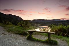 Rydal Sunset (MarkE_T) Tags: lakedistrict clearsky redskyatnight sunset ambleside rydalwater bench lake smcpentaxda1645mmf4edal pentaxk5 landscape