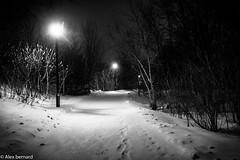 Ouvrir le chemin (alex.bernard) Tags: winter blackandwhite bw snow canada cold night canon noiretblanc outdoor hiver snowstorm québec neige blizzard tamron nuit froid montsainthilaire tempêtedeneige tamron2470 canon5diii
