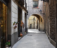 Walking through the Gothic Quarter . ( A piedi attraverso il Quartiere Gotico (Alex Nebot) Tags: barcelona street old city nikon bcn ciudad nikkor arco barrio calles barcelone citta ciutat barna gotic barri mediterrani arcada d7200