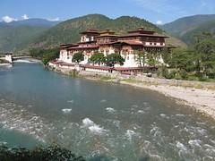 Dzong de Punakha (Micheline Canal) Tags: landscape asie dzong himalaya couleur bhoutan
