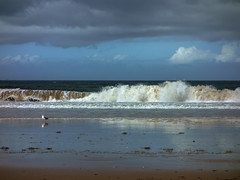 Praia Amrica 07 un da de lluvia (Pepe Fernndez) Tags: autumn mar paisaje nubes otoo olas gaviotas panxn nigrn playaamrica praiaamrica