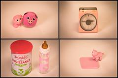 La vie en rose (fabvirge) Tags: rose lait cochon jouet rveil biberon jambon