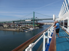 Ruby Princess - Sea of Cortez Cruise (Jasperdo) Tags: california bridge cruise cruising sanpedro vincentthomasbridge losangelesharbor princesscruiseline rubyprincess