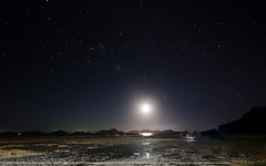 Atardecer lunar (Sebas Fonseca) Tags: world longexposure travel sky moon beach night stars landscape island nikon playa luna explore estrellas nido filipinas elnido phillippines d7000 sebafonseca