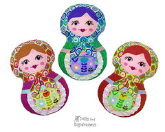 Babushka Matryoshka Sewing Pattern (Dolls And Daydreams) Tags: babushka matryoshka sewingpattern russiannestingdoll machineembroiderypattern ithpattern