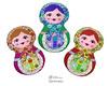 Babushka Matryoshka Sewing Pattern (Dolls And Daydreams) Tags: babushka matryoshka sewingpattern russiannestingdoll machineembroiderypattern ithpattern