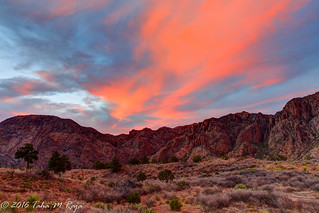 Chisos Mountains Sunset, Big Bend Nationakl Park, Terlingua, Texas, Chisos Mountain - Filename: XR6A2147_48_49_50_51 - 1/4 sec at f/11 ISO 400