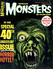 Famous Monsters #40 (1966), Horror Hotel cover by Ron Cobb (Tom Simpson) Tags: illustration vintage magazine 1966 cover horror 1960s famousmonsters horrorhotel roncobb