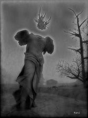 The Headless Angel (| Raven |) Tags: life bw white black art ravi works second ravishing wastelands