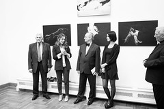 Dog Photography Exhibition in Palace of Fine Arts Krakw (Alicja Zmysowska) Tags: blackandwhite dog dogs photography fineart ceremony opening finearts