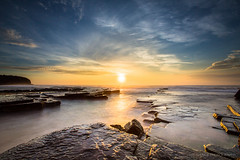 Sunrise at Turimetta (WT Journal) Tags: beach sunrise golden sydney australia nsw turimetta