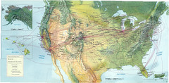United Airlines North American cities, November 1992 (airbus777) Tags: domestic diagram northamerica network 1992 ual unitedairlines tbt routemap