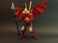 Makuta Tridax (Anthony Wilson (Bricks of Awesome)) Tags: wings pod lego contest large demon titan bionicle moc makuta tridax