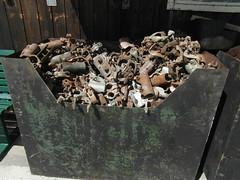 Box Of Delights (Munki Munki) Tags: metal rust grunge skip robinhoodsbay boxofdelights nyorkshire baygarage scaffoldingclamps