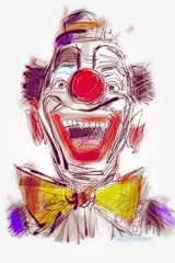 Mithridates the Great (Boogey Man) Tags: art illustration georgia sketch diy artwork artist contemporaryart modernart digitalart paintings drawings clowns chrisezelle