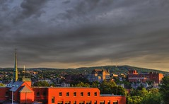 Sherbrooke centre-ville (sherbypictures) Tags: canada de soleil quebec coucher cathdrale sherbrooke centreville