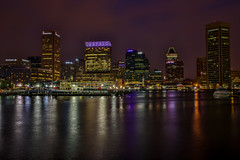 Baltimore MD (Bill Varney) Tags: city reflection water night lights cityscape outdoor maryland baltimore billvarney