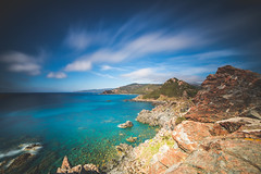 Red Rocks (Maximecreative) Tags: longexposure sea sky west clouds coast rocks mediterranean gulf corsica rocky wideangle motionblur f28 select archipelago les sanguinaires 14mm samyang leefilters bigstopper pointedelaparata nd06hardgrad sw150
