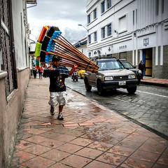 The Fuller Brush Man In Ecuador (Graygeek2015) Tags: ecuador cuenca escoba elcentro