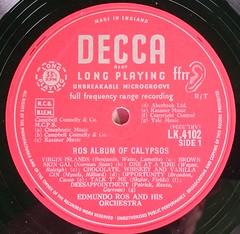 EDMUNDO ROS AND HIS ORCHESTRA ROS ALBUM OF CALYPSOS - A (richbedforduk) Tags: records artwork vinyl albums labels 12 33rpm lps sleeves
