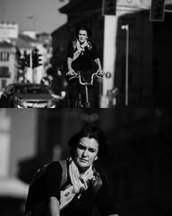 [La Mia Citt][Pedala] (Urca) Tags: portrait blackandwhite bw bike bicycle italia milano bn ciclista biancoenero mir bicicletta 2015 bwbw pedalare dittico nikondigitale ritrattostradale 822100