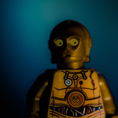 excuse me sir, but might i inquire as to what's going on? (jooka5000) Tags: portrait face toy photography starwars photographer lego expression minifigs droid c3po legography