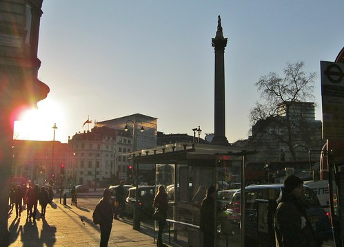 Trafalgar Square sunset