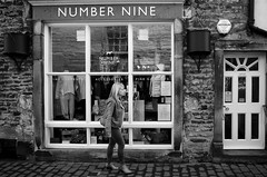 Number Nine (nigelhunter) Tags: street urban woman shop stone candid nine number kirkby lonsdale