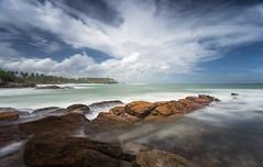 Goyambokka (JoshyWindsor) Tags: ndfilter beach ocean landscape longexposure canonef1740mmf4l coastal scenic southcoast srilanka canoneos6d goyambokka holiday clouds