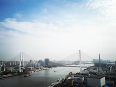| Nanpu Bridge Day52/366 (Owen Wong (Thank you)) Tags: bridge square shanghai lofi squareformat  huawei  nanpu   iphoneography instagramapp uploaded:by=instagram