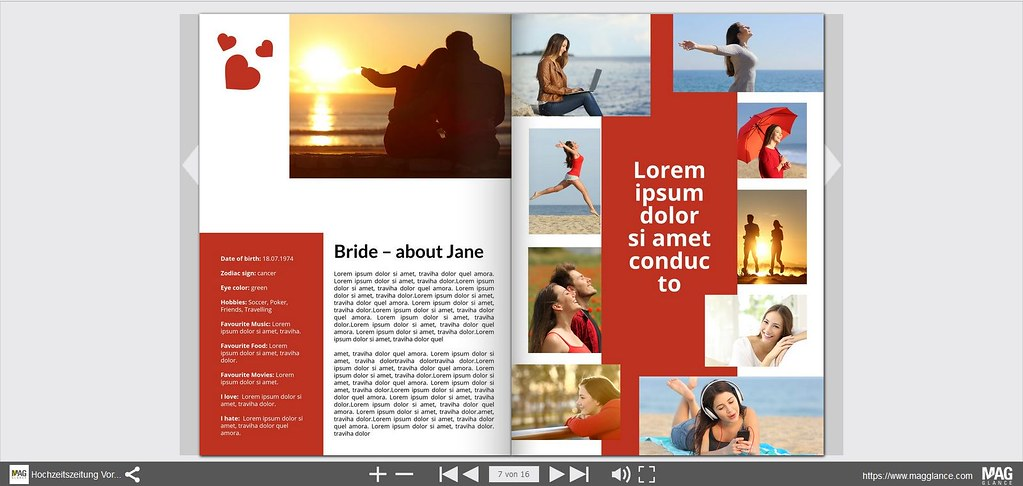 hochzeitszeitung vorlage 04 magglance tags layout design cover hochzeit magazin template - Hochzeitszeitung Beispiele