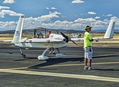 A kit-built aircraft prepares for flight at the 2014 Air Show of the Cascades in Madras, Oregon (mharrsch) Tags: oregon airplane aircraft aviation madras flight airshow airmuseum mharrsch airshowofthecascades ericksonairmuseum