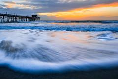 Grand Opening (regularjoe) Tags: beach sunrise pier florida melbourne cocoa atlanticocean