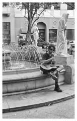 Musico (JOSEAN GOMEZ) Tags: musician texture blancoynegro 35mm blackwhite arquitectura oldsanjuan puertorico guitarra streetphotography d76 textures sidewalk analogue texturas viejosanjuan lightroom rangefinders musico fotocallejera kodakd76 industar22 fotografiacallejera negativo35mm thefilmgroup films35mm epsonperfectionv500scanner oldsanjuanstreets silverefexpro2 plazadearmassanjuan