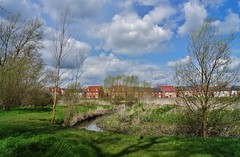 Over the river (dlanor smada) Tags: blue sky clouds chilterns rivers aylesbury bucks riverthame