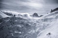 20160226 Wind, snow, light DSC02929.jpg (PowderPhotography) Tags: bw white snow black ski sony extreme glacier split february toned chamonix touring toning valleeblanche 2016 rx100