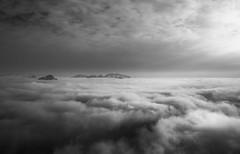 """Le dlice d'un caprice (Isat"""") Tags: mountain alps nature montagne alpes landscape noiretblanc nuage moutains"""