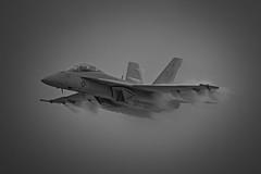 superbug1 (Hickory Shampoo) Tags: plane airplane blackwhite navy airshow rhino hornet f18 usn vapor warplane superbug fa18 superhornet