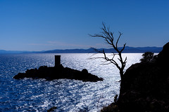 Cap Dramont (Ste.Viaggio) Tags: sea trekking landscape nikon mare torre persone cap gita albero francia vacanza paesaggio isola esterel camminata dramont stevia80