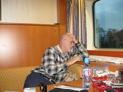 2016-031595 (bubbahop) Tags: cruise germany cabin ship head shaved bald tired ms flannel gct passau 2016 grandcircle bubbahop riveradagio europetrip33