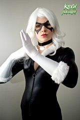 IMG_8738 (Neil Keogh Photography) Tags: white black female blackcat comics mask boots cosplay gloves wig cosplayer collar marvel zip marvelcomics jumpsuit manchesteranimegamingcon2016