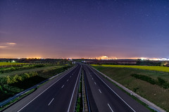Motorway in night (net.furion) Tags: night zeiss stars motorway sony carl 24mm alpha sonnar a6000