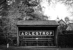 Adlestrop (judy dean) Tags: station sign bench trains cotswolds busstop 2016 adlestrop judydean sonya6000