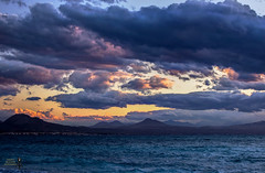 A cloudy Sunday of April 2016 (theseustroizinian) Tags: sunset sea sky sun seascape nature clouds canon landscape greek seaside ngc corinth hellas greece hdr loutraki hellenic goldenhours seasunandclouds canoneos700d simplysuperb hdraward
