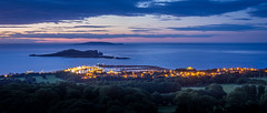 Howth, Ireland's Eye & Lambay (picturesbyJOE) Tags: city ireland urban howth dublin mountains water architecture buildings islands evening twilight europe hills bluehour ie seas harbours lambay countydublin irishsea irelandseye fingal benofhowth dublin13 blacklinn
