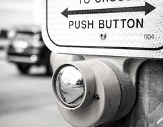 PushButton (nffcnnr) Tags: street blackandwhite streetphotography pedestrian crosswalk