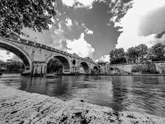 Roma 1 maggio 2016 -201 maggio 2016 (Fabio Gentili Photography) Tags: bw white black rome roma olympus bn ponte tevere lungotevere sisto zuiko714 omd5