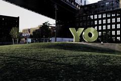 New Yawk (Bob90901) Tags: newyorkcity morning sculpture art brooklyn canon spring outdoor manhattanbridge april topaz 6d 2016 newyawk brooklynbridgepark empirefultonferrystatepark canonef2470mmf28liiusm rpg90901